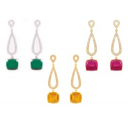 Citrin Set 5 Earrings