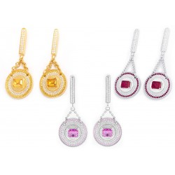 Citrin Set 7 Earrings