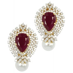 Ruby Set 8 Earrings (Exc. to Precious)