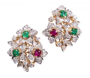 Emerald Set 2 Earrings (Exclusive to Precious)
