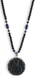 ONYX SET 7 NECKLACE (STERLING SILVER)