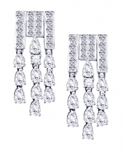 Diamond Set 18 Earrings (Exc. to Precious)